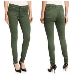 Hudson Olive Green Krista Skinny Ankle Jeans
